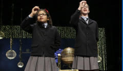Las niñas de San Ildefonso Lorena Stefan y Nicol Valenzuela
