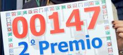 El número 147 ha resultado agraciado con el segundo premio de la Lotería de Navidad