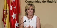 Esperanza Aguirre anuncia su dimisión.