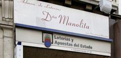 La administración de loterías Doña Manolita, en Madrid