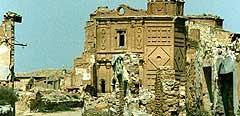 Parte de la Belchite en ruinas.