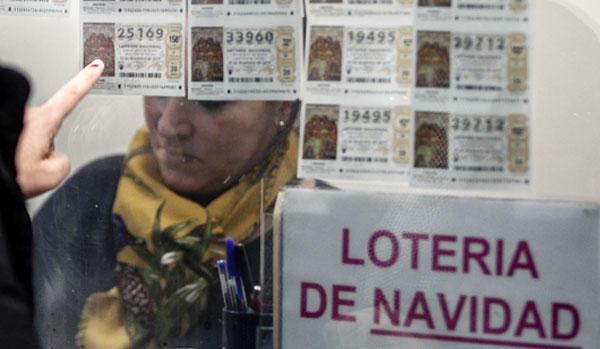 Venta de Lotería de Navidad.