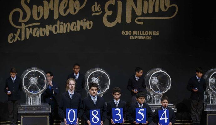 Una imagen del sorteo extraordinario de la lotería de El Niño