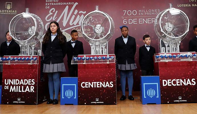 La lista de los premios de la Lotería del Niño